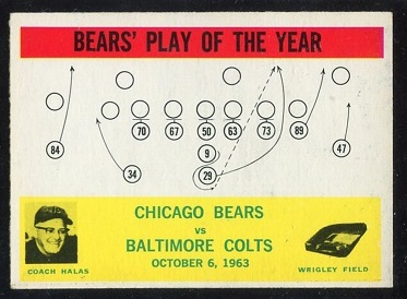 1964 Philadelphia #28 - Bears Play of the Year - exmt