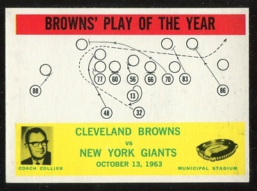 1964 Philadelphia #42 - Browns Play of the Year - nm-mt oc