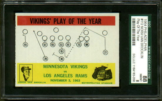1964 Philadelphia #112 - Vikings Play of the Year - SGC 88