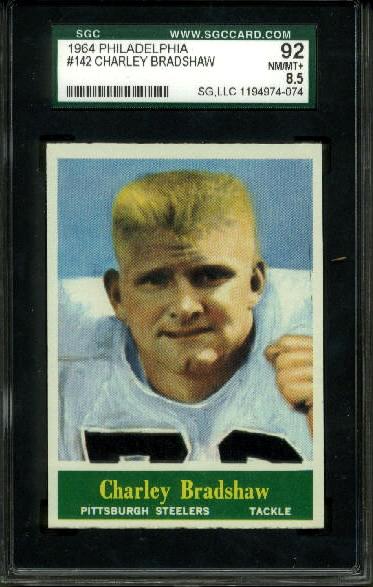 1964 Philadelphia #142 - Charlie Bradshaw - SGC 92