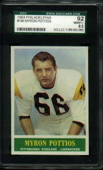 1964 Philadelphia #149 - Myron Pottios - SGC 92