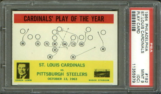 1964 Philadelphia #182 - Cardinals Play of the Year - PSA 9 oc