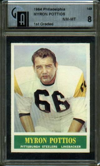 1964 Philadelphia #149 - Myron Pottios - GAI 8