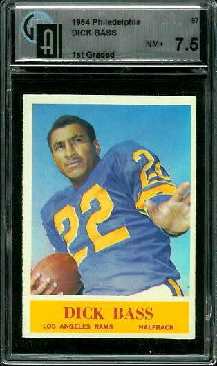 1964 Philadelphia #87 - Dick Bass - GAI 7.5