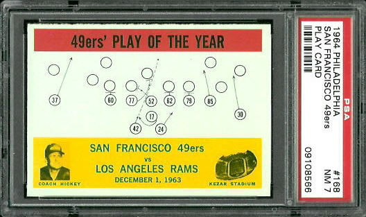 1964 Philadelphia #168 - 49ers Play of the Year - PSA 7