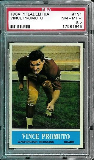 1964 Philadelphia #191 - Vince Promuto - PSA 8.5