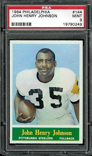 1964 Philadelphia #144 - John Henry Johnson - PSA 9