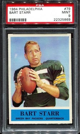 1964 Philadelphia #79 - Bart Starr - PSA 9