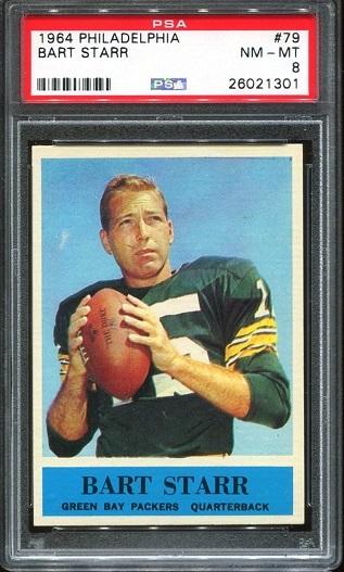 1964 Philadelphia #79 - Bart Starr - PSA 8