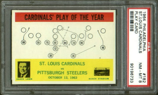 1964 Philadelphia #182 - Cardinals Play of the Year - PSA 8