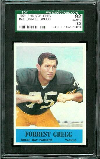 1964 Philadelphia #73 - Forrest Gregg - SGC 92