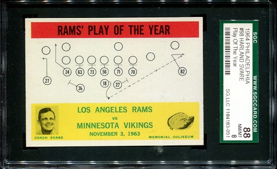 1964 Philadelphia #98 - Rams Play of the Year - SGC 88