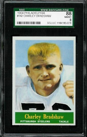1964 Philadelphia #142 - Charlie Bradshaw - SGC 88
