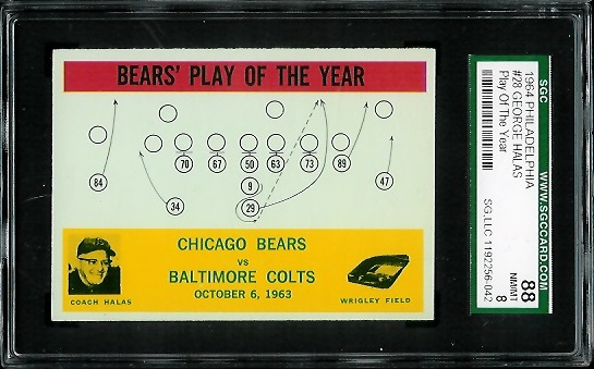 1964 Philadelphia #28 - Bears Play of the Year - SGC 88
