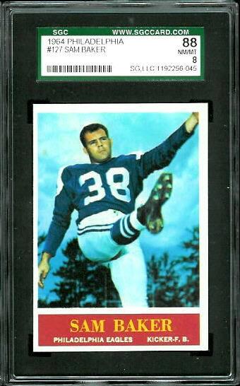 1964 Philadelphia #127 - Sam Baker - SGC 88
