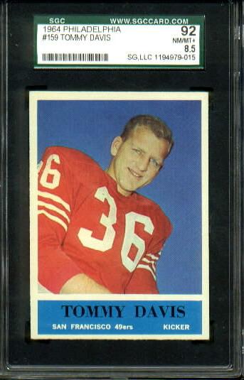 1964 Philadelphia #159 - Tommy Davis - SGC 92