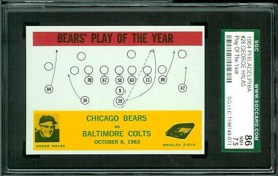 1964 Philadelphia #28 - Bears Play of the Year - SGC 86