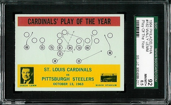 1964 Philadelphia #182 - Cardinals Play of the Year - SGC 92