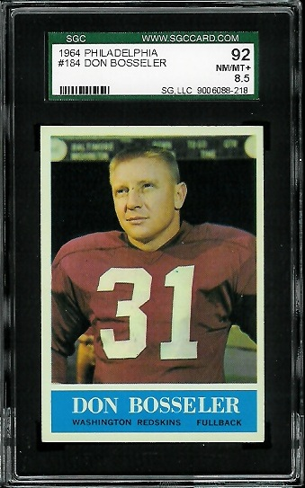 1964 Philadelphia #184 - Don Bosseler - SGC 92