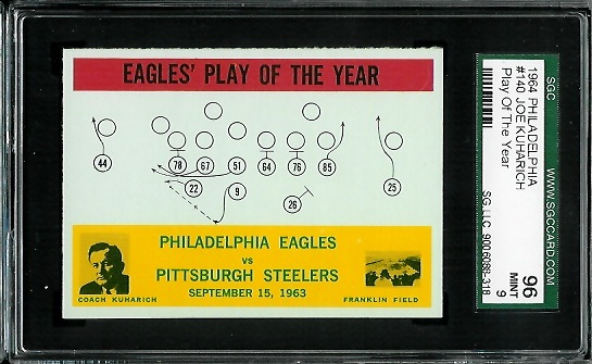 1964 Philadelphia #140 - Eagles Play of the Year - SGC 96