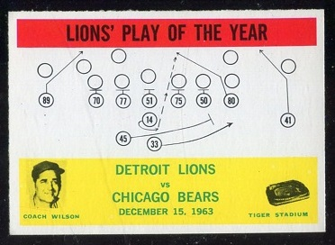 1964 Philadelphia #70 - Lions Play of the Year - nm
