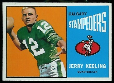 1964 Topps CFL #17 - Jerry Keeling - nm