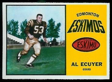 1964 Topps CFL #22 - Al Ecuyer - exmt