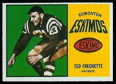 1964 Topps CFL #26 - Ted Frechette - exmt