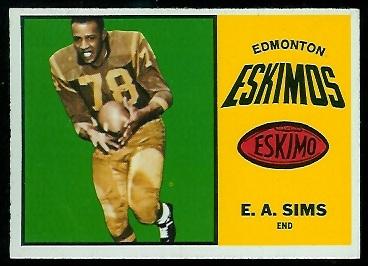 1964 Topps CFL #27 - E.A. Sims - nm+