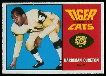 1964 Topps CFL #36 - Hardiman Cureton - exmt