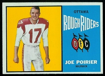 1964 Topps CFL #54 - Joe Poirier - nm+