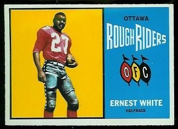 1964 Topps CFL #57 - Ernie White - nm