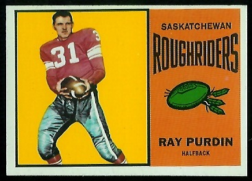 1964 Topps CFL #60 - Ray Purdin - nm-mt oc