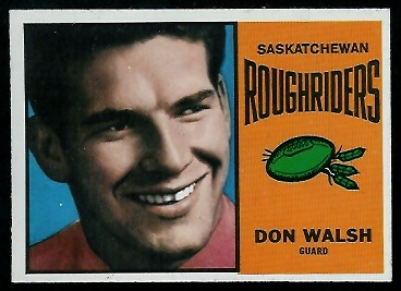 1964 Topps CFL #65 - Don Walsh - nm+
