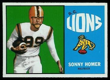1964 Topps CFL #7 - Sonny Homer - nm+