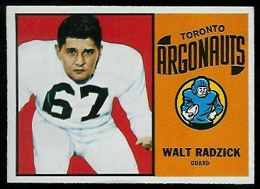 1964 Topps CFL #76 - Walt Radzick - nm+