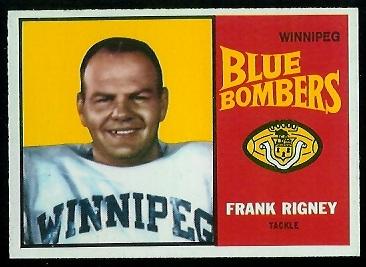 1964 Topps CFL #84 - Frank Rigney - nm