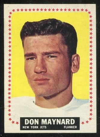 1964 Topps #121 - Don Maynard - exmt