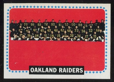 1964 Topps #153 - Oakland Raiders Team - exmt
