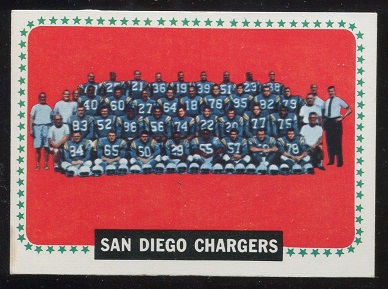 1964 Topps #175 - San Diego Chargers Team - ex