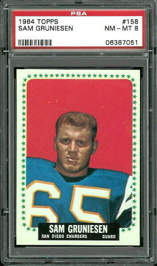 1964 Topps #158 - Sam Gruneisen - PSA 8
