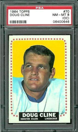 1964 Topps #70 - Doug Cline - PSA 8 oc