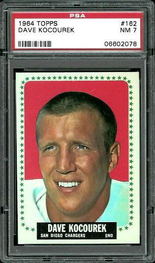 1964 Topps #162 - Dave Kocourek - PSA 7