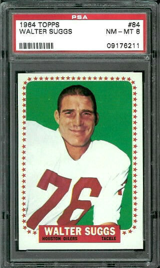1964 Topps #84 - Walt Suggs - PSA 8
