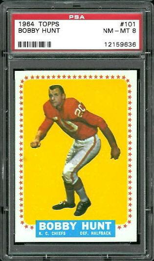 1964 Topps #101 - Bobby Hunt - PSA 8