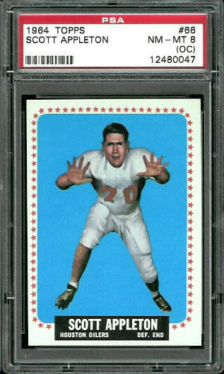 1964 Topps #66 - Scott Appleton - PSA 8 oc