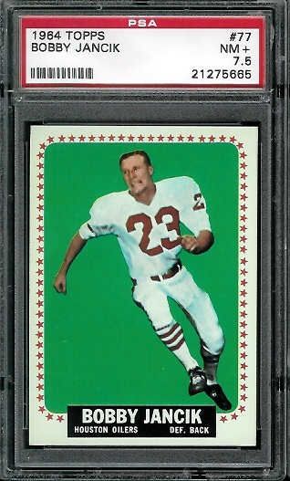 1964 Topps #77 - Bobby Jancik - PSA 7.5
