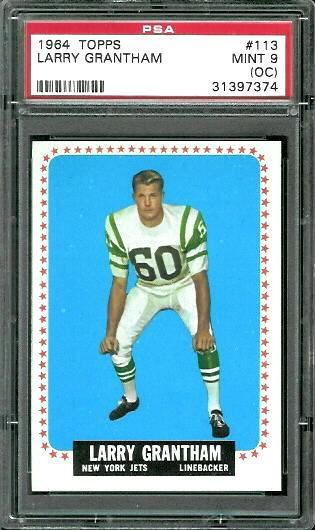 1964 Topps #113 - Larry Grantham - PSA 9 oc