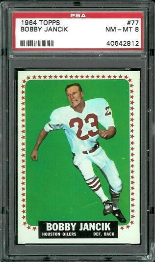 1964 Topps #77 - Bobby Jancik - PSA 8