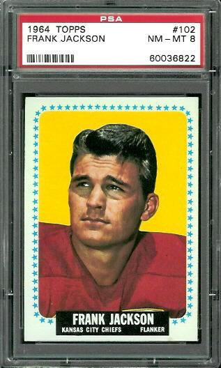 1964 Topps #102 - Frank Jackson - PSA 8